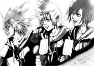 KH Axel Roxas Xion by TsukiStrife11