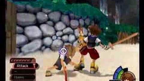 Kingdom Hearts Tidus Battle