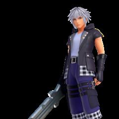 Nueva vestimenta y llave espada de Riku