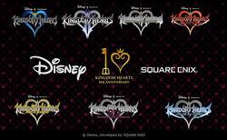 Saga Kingdom Hearts Logos Juegos
