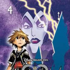 Antigua cubierta española del volumen 4 del manga de <i>Kingdom Hearts II</i>