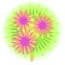Sticker feux d'artifices 1 Aqua