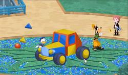 Donald desarmando el coche gumi