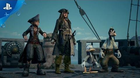 Kingdom Hearts III - E3 2018 Pirates of the Caribbean Trailer PS4