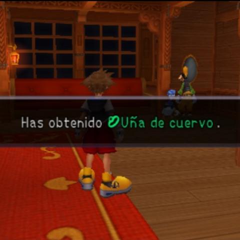 Sora obteniendo  tras derrotar a <a href=