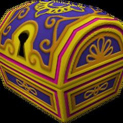 Un cofre grande que aparece en Agrabah