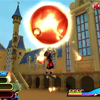 Sora usando Descarga Ígnea en <i><a href=