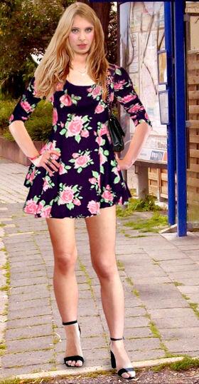 Sandra W Pain88 Skater-Dress