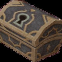 Un cofre azul que aparece en Bastión Hueco