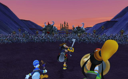 Battle of the 1000 Heartless KHII