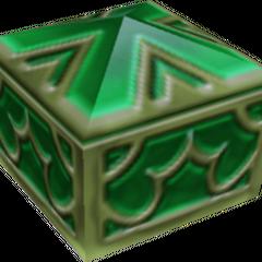 Un cofre verde que aparece en Fin del Mundo