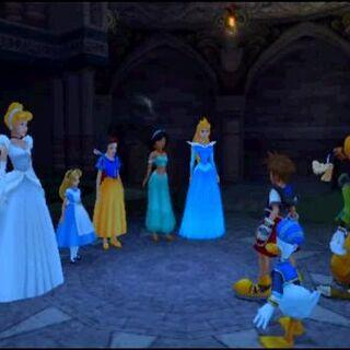 Las Princesas del Corazón en <i>Kingdom Hearts</i>