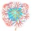 Sticker feux d'artifices 2 Aqua