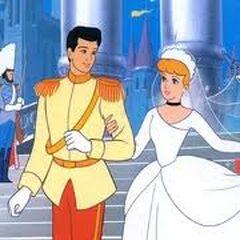 Cenicienta y el Príncipe en la película de Disney