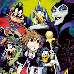 Cubierta del volumen 4 del manga de <i>Kingdom Hearts II</i>