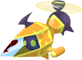 Yellow Gummi Copter KHX