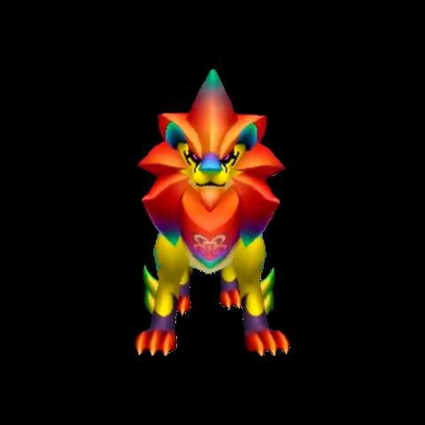 Render (de un ángulo frontal) de Auraleón forma luciente.