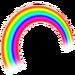 Sticker arc-en-ciel Terra