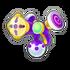 Pistolet à couleurs Violet DDD