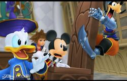 Kingdom hearts re coded-disney castle