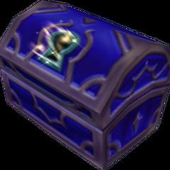 Un cofre azul que aparece en Fin del Mundo