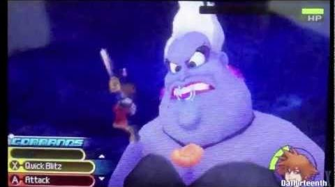 Kingdom Hearts 3D Dream Drop Distance Critical Mode Battle - Ursula