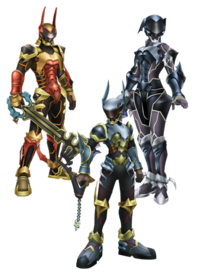 Terra, Aqua, and Ven's Armors KHBBS