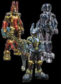 Terra, Aqua, and Ven's Armors KHBBS