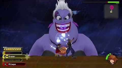 Kingdom Hearts 3D Dream Drop Distance HD Combat contre Ursula