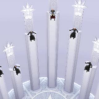 El Maestro Xehanort sentado en el trono de Xemnas.