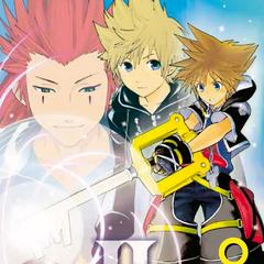 Cubierta del volumen 8 del manga de <i>Kingdom Hearts II</i>