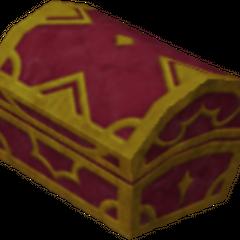 Un cofre rojo que aparece en País de Nunca Jamás