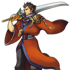 Artwork de Auron en KH2