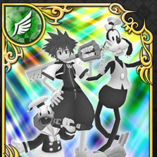 Carta de velocidad de Sora, Donald y Goofy en su máximo nivel (rango SR)