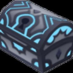 Un cofre azul que aparece en Castillo del Olvido