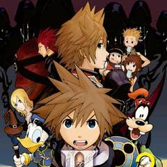 Cubierta del volumen 2 del manga de <i>Kingdom Hearts II</i>
