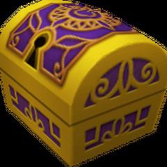 Un cofre pequeño que aparece en Agrabah