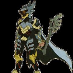 Concepto artístico de Ventus con armadura