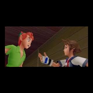 Peter Pan discutiendo con <a href=