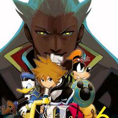Cubierta del volumen 6 del manga de <i>Kingdom Hearts II</i>