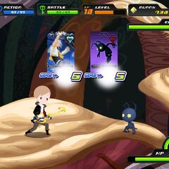 Combate en Kingdom Hearts χ [chi]