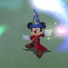 Rey Mickey como aprendiz de brujo en el mundo <a href=