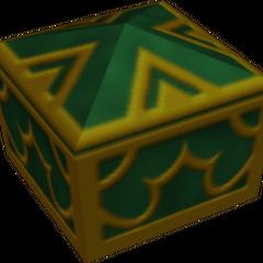 Un cofre verde que aparece en Agrabah