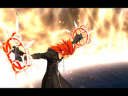 Axel invocando sus chakrams