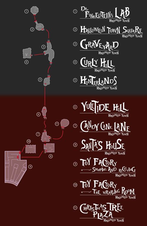 Minimap (Halloween Town) KHII