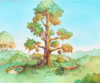 100 Acre Wood- Hunny Tree (Art) KH