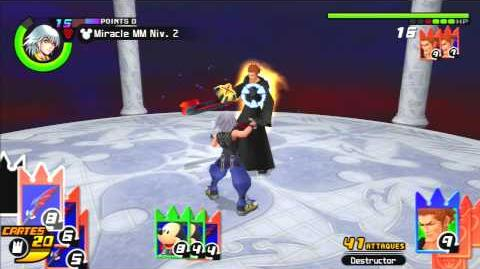 Kingdom Hearts Re Chain of Memories Reverse Rebirth Combat contre Lexaeus
