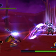 Batalla de Sora contra Sephiroth en <i>Kingdom Hearts</i>