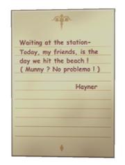Hayner Beach Note