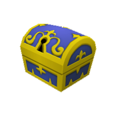 Un cofre pequeño que aparece en Castillo Disney